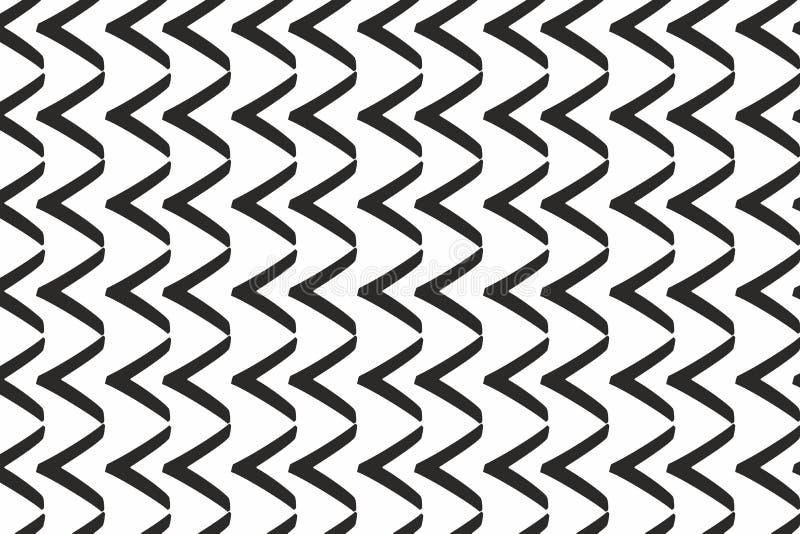 Czarnych strzała horyzontalny wzór monochromatyczny tapetowy pojęcie ilustracja wektor
