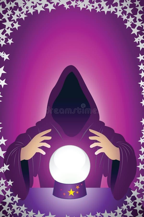 czarodziej royalty ilustracja