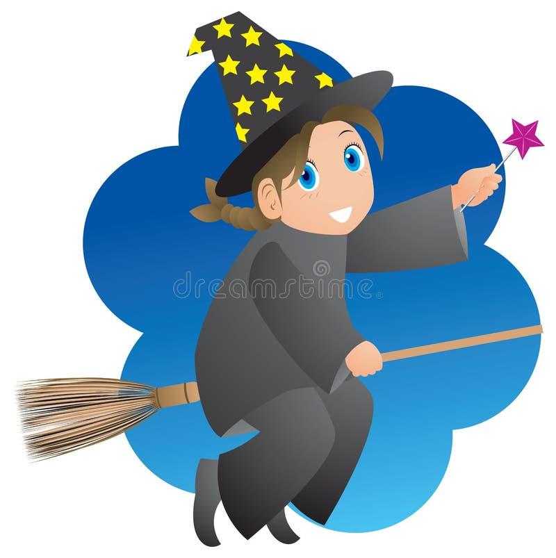 czarodziej lady ilustracja wektor
