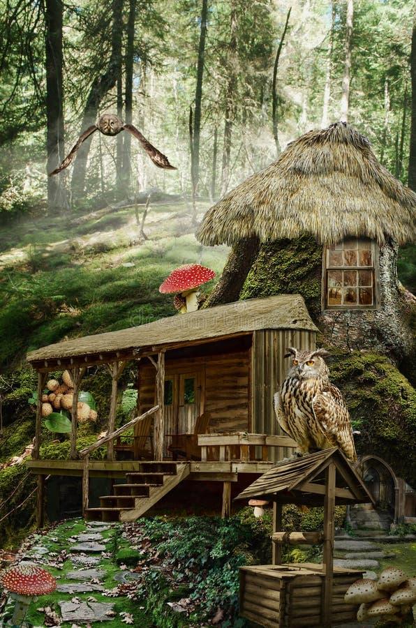 Czarodziejka dom (fiszorek) ilustracja wektor