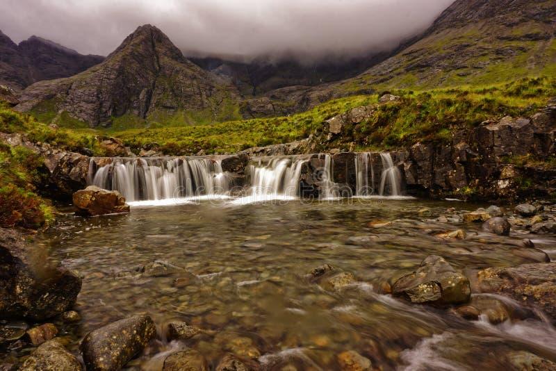 Czarodziejka Gromadzi siklawę w Szkocja zdjęcie stock