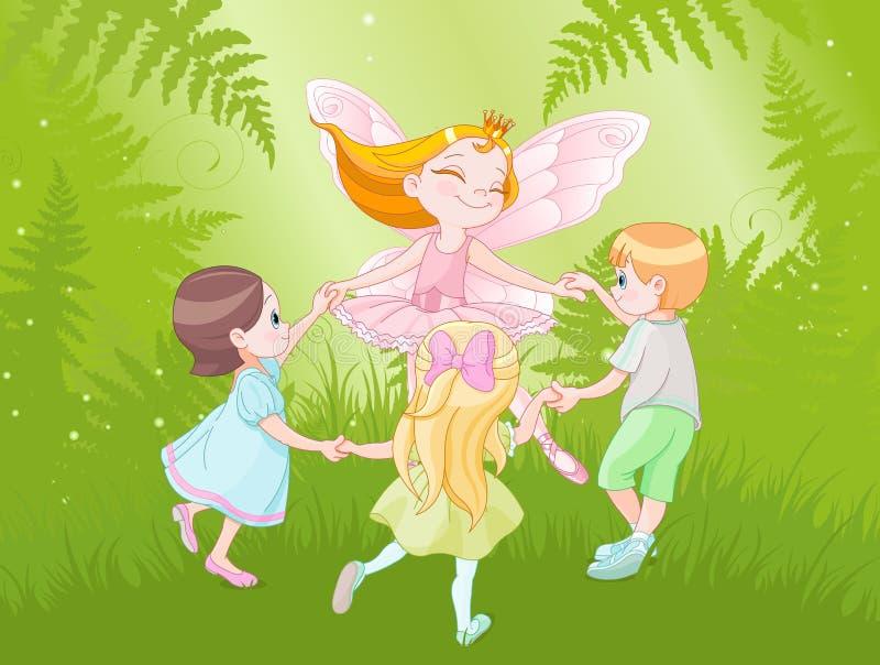 Czarodziejka i dzieci ilustracji