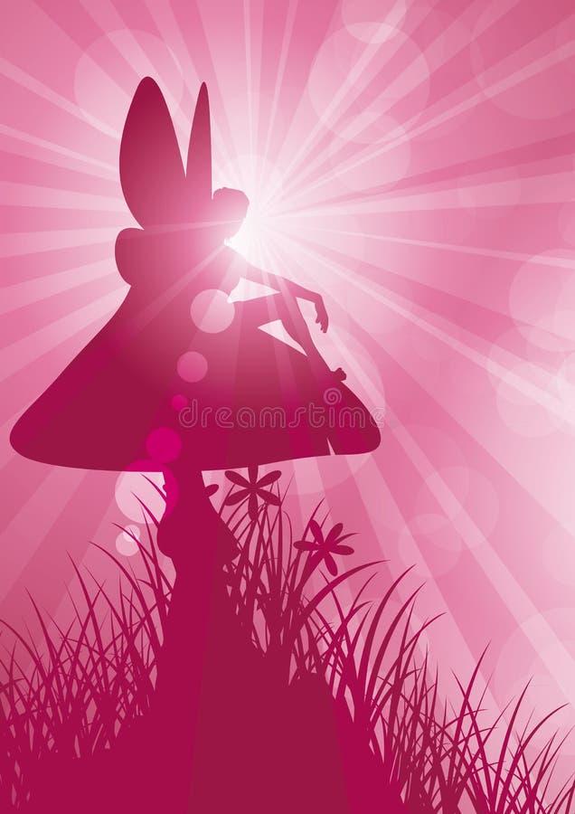 Download Czarodziejka Na Muchomorze (1) Ilustracja Wektor - Ilustracja złożonej z ilustracje, światło: 28951885