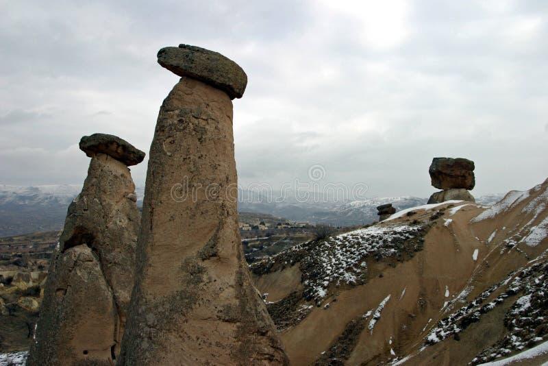 Czarodziejscy kominy w Urgup, Cappadocia zdjęcia stock