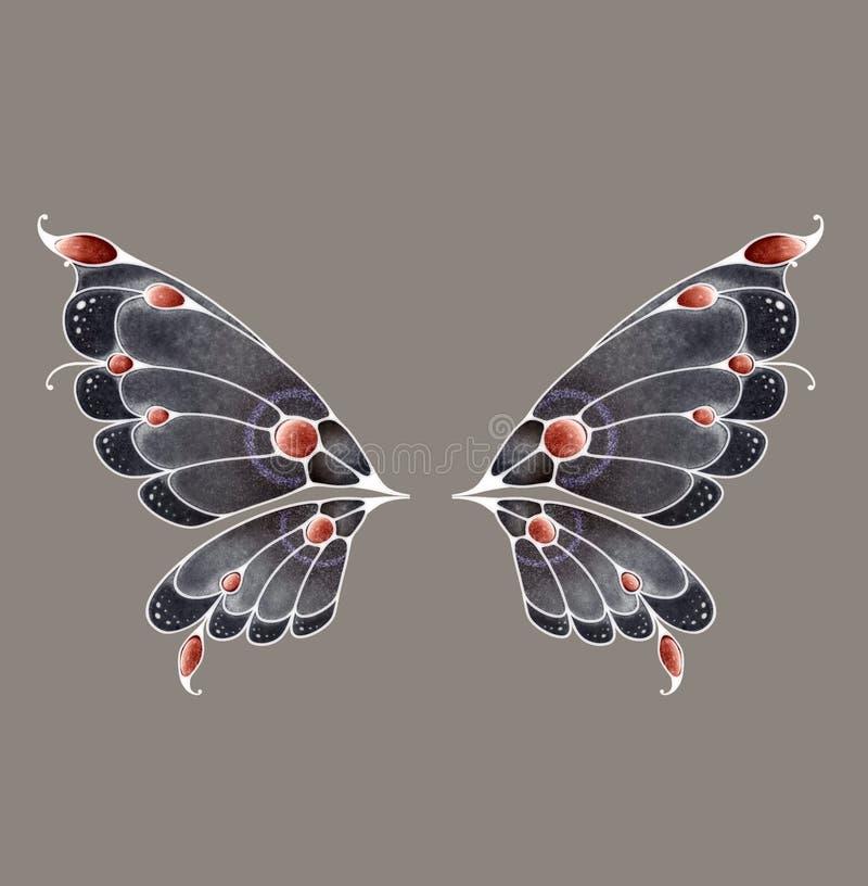 czarodziejscy skrzydła ilustracji