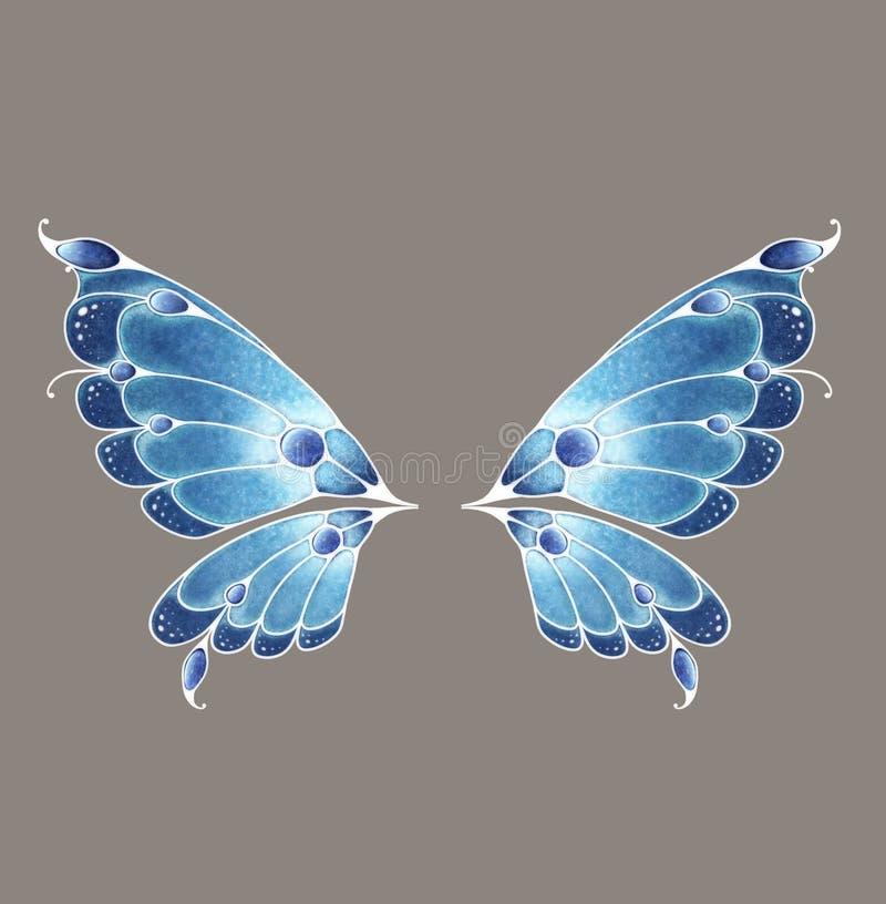 czarodziejscy skrzydła ilustracja wektor