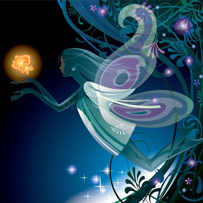 czarodziejska dziewczyna ilustracji