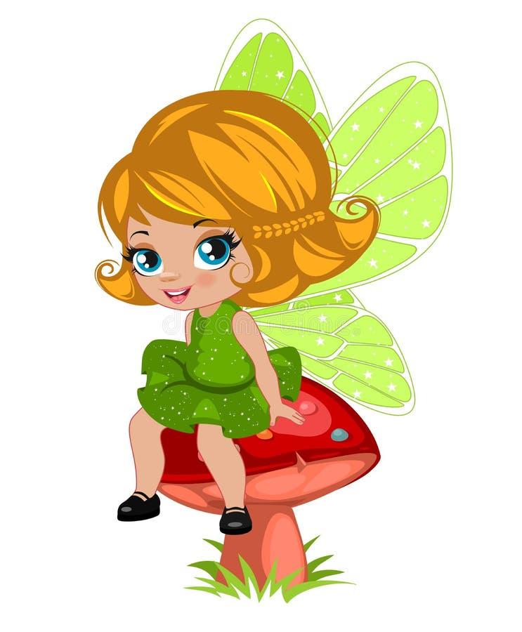 Czarodziejska dziewczyna w eleganckiej sukni royalty ilustracja