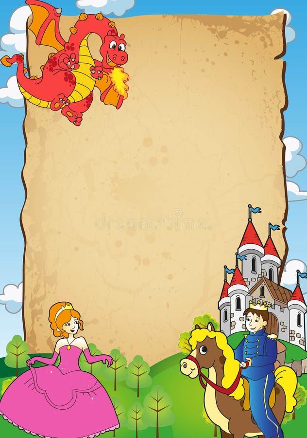 czarodziejska zaproszenia książe princess bajka ilustracja wektor