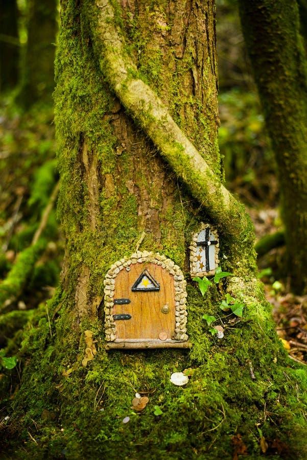 Czarodziejski drzewny dom fotografia royalty free