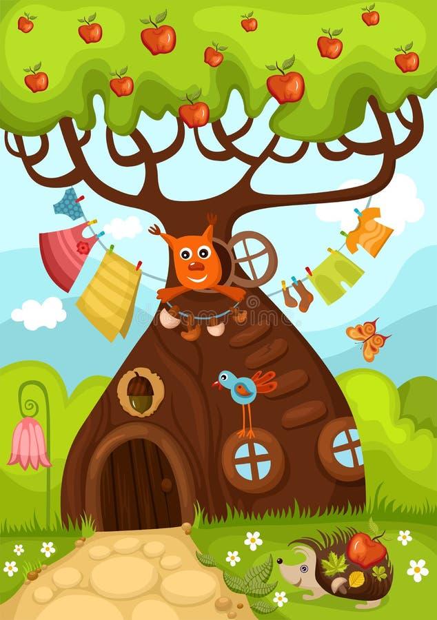 czarodziejski drzewo ilustracja wektor
