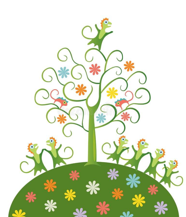 Czarodziejski drzewo. ilustracji