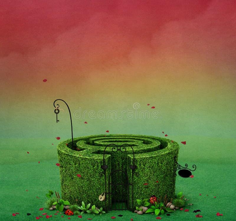 Czarodziejski labirynt ilustracji