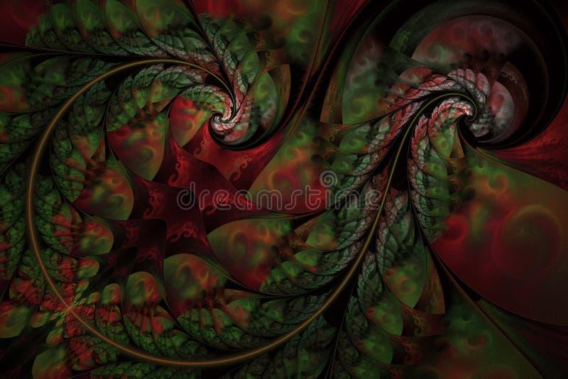 Czarodziejski Niesko?czony Abstrakcjonistyczny kwiecisty wz?r Jaskrawi kolory i iskrzasta tekstura royalty ilustracja