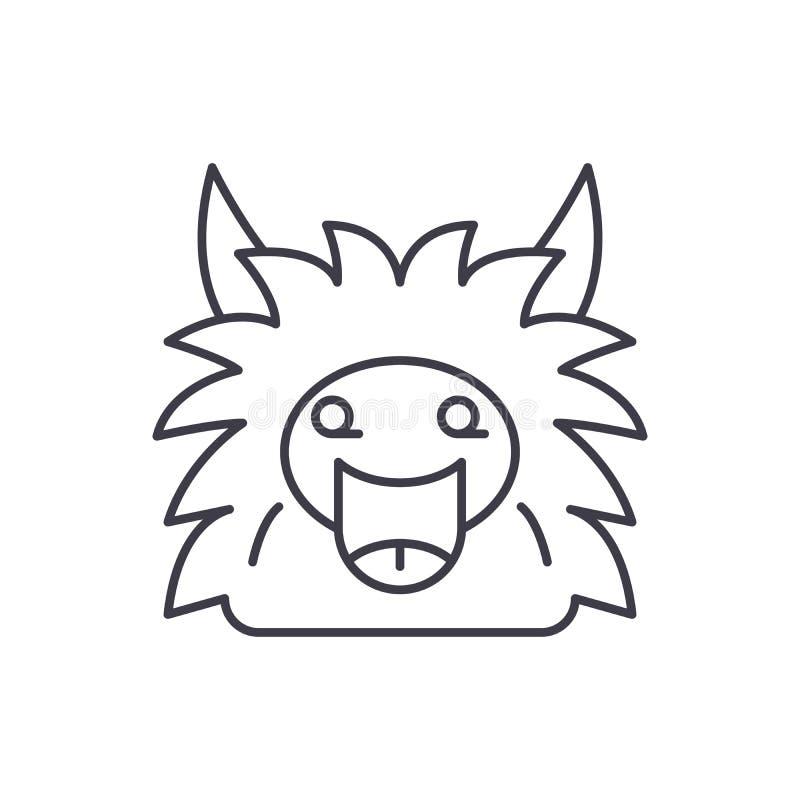 Czarodziejski potwór linii ikony pojęcie Czarodziejskiego potwora wektorowa liniowa ilustracja, symbol, znak royalty ilustracja