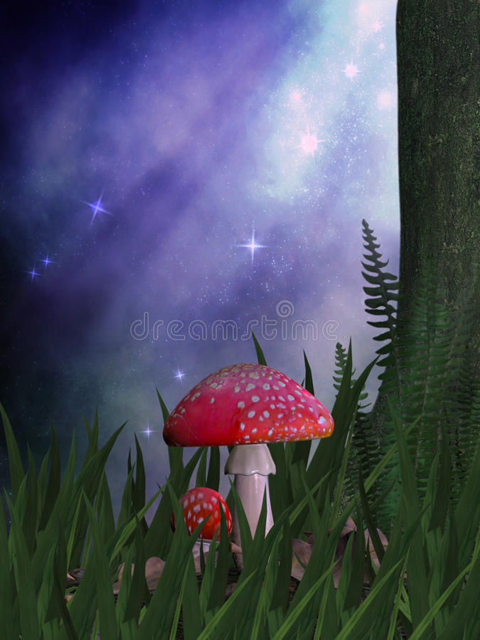 czarodziejski przygarbienie ilustracji