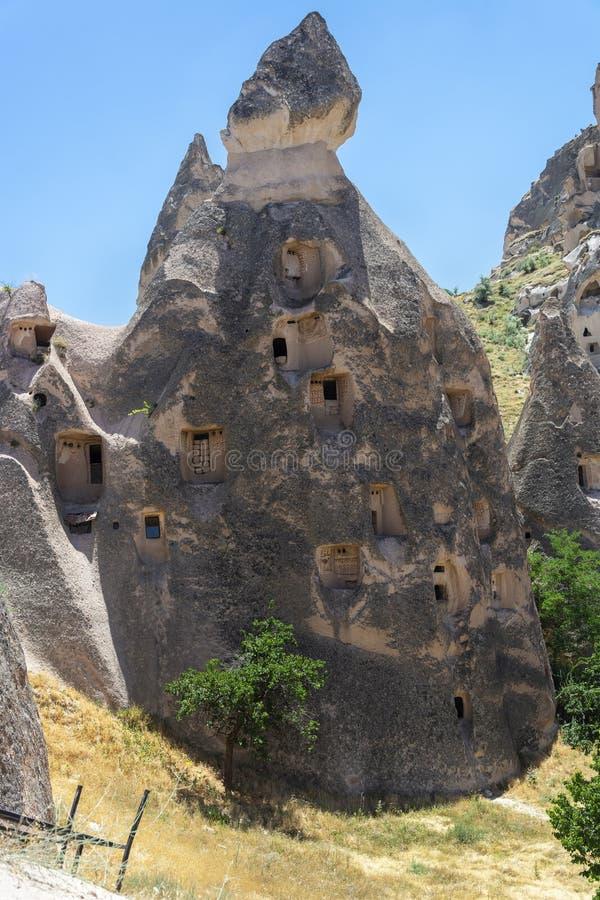Czarodziejskich komin?w rockowe formacje w Cappadocia, ?rodkowy Turcja obrazy stock