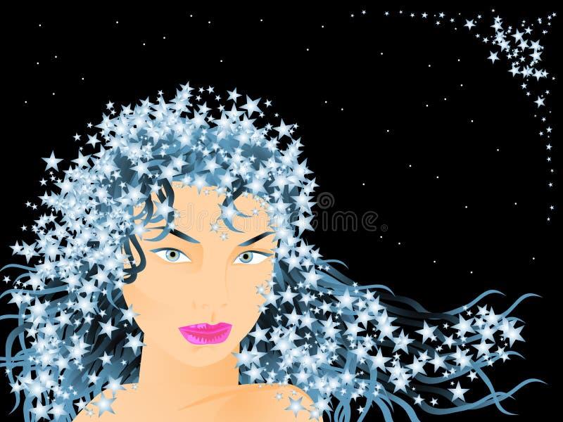 czarodziejskie gwiazdy royalty ilustracja