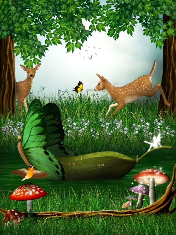 czarodziejskiego lasu bajka royalty ilustracja