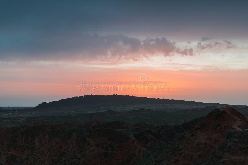 Czarować Danxia landform zdjęcia royalty free