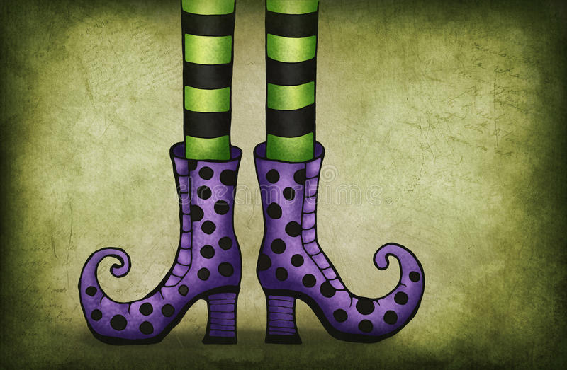 Czarownic nogi ilustracja wektor