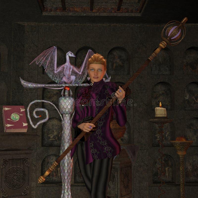 Czarownica rytuał ilustracji