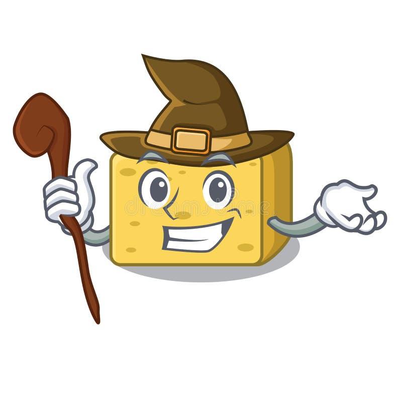 Czarownicy gouda ser składa kreskówkę ilustracji