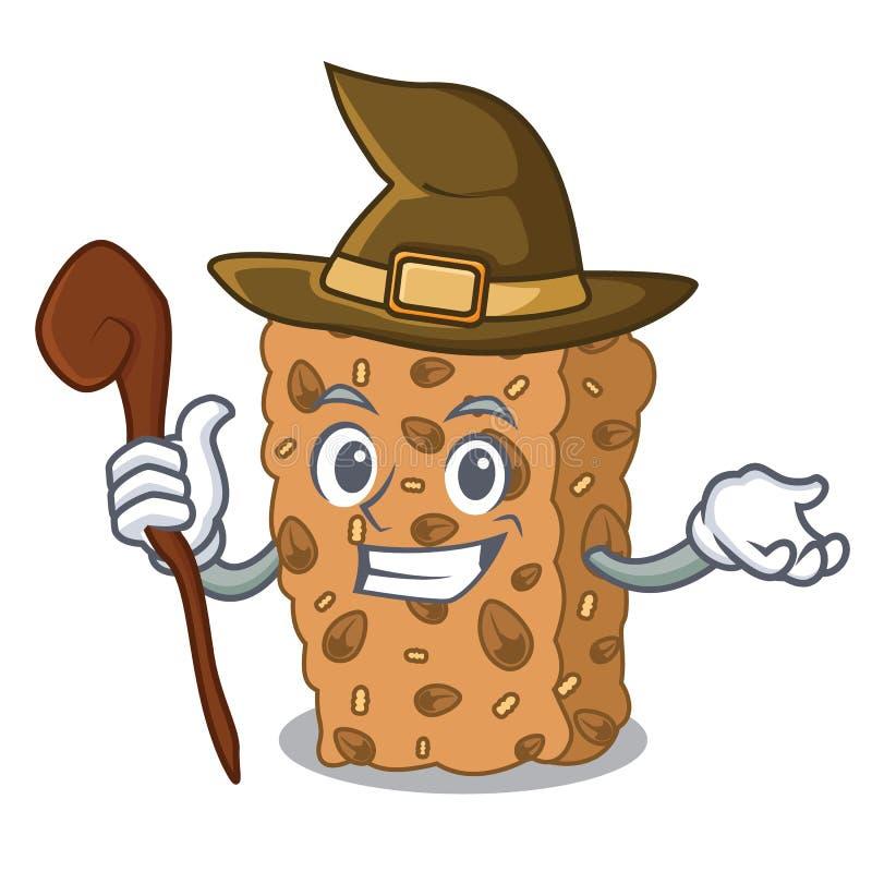 Czarownicy granola baru maskotki kreskówka ilustracja wektor