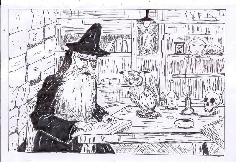 czarownik ilustracji