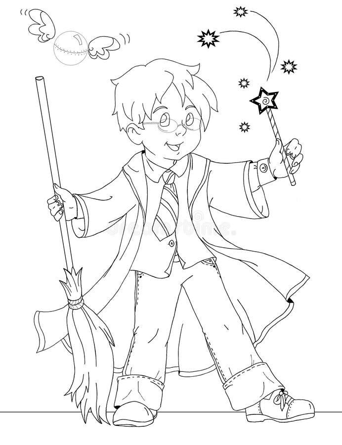 czarownik chłopiec ilustracji