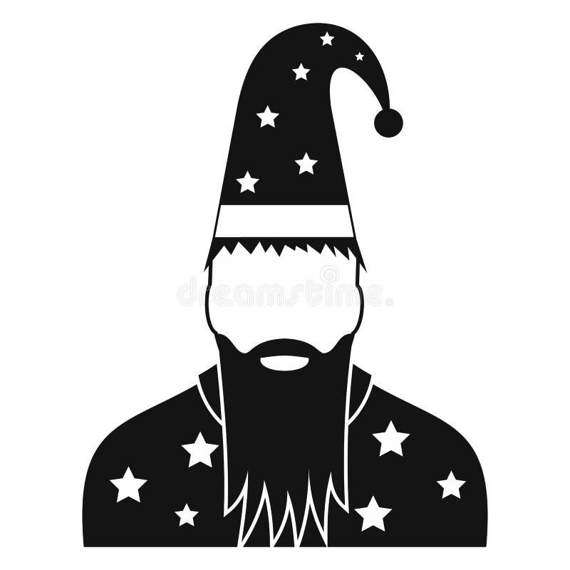 Czarownik w kapeluszu z gwiazdami ilustracji