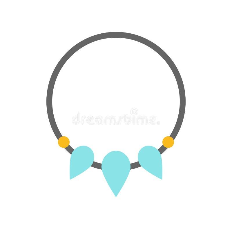 Czaruje gemstone bransoletkę, biżuteria odnosić sie ikona, płaski projekt royalty ilustracja