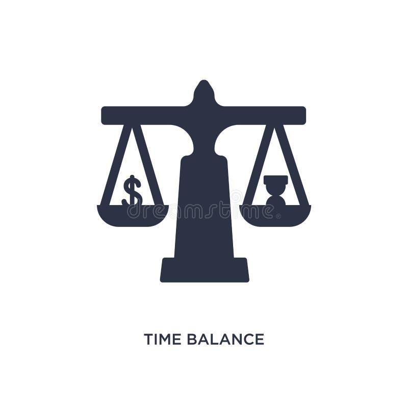 czas balansowa ikona na białym tle Prosta element ilustracja od dział zasobów ludzkich pojęcia ilustracji