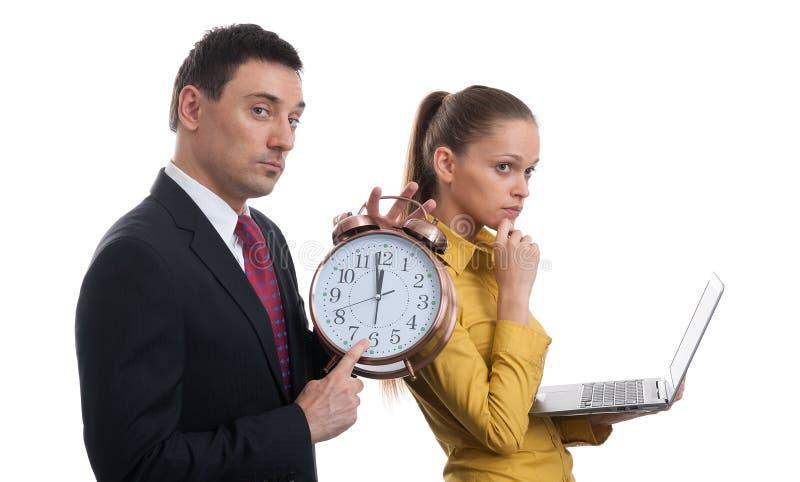 Czas. biznesowa para zdjęcie royalty free