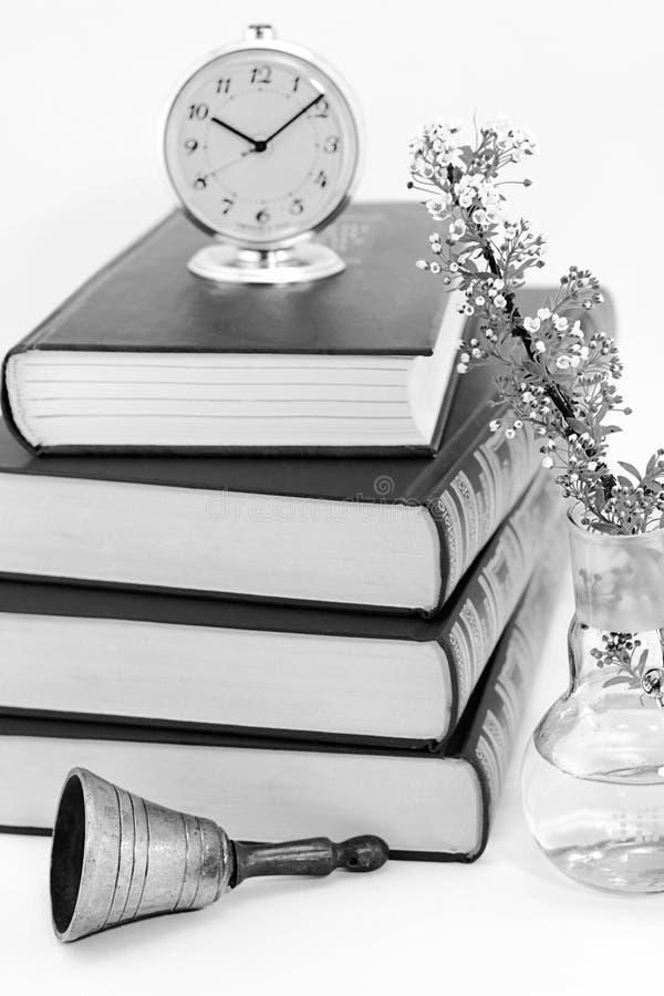 Czas czytać papierowe książki zdjęcie stock