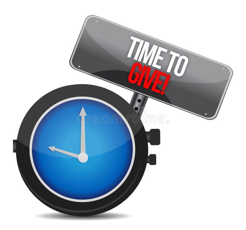 Czas Dawać zegarowi royalty ilustracja