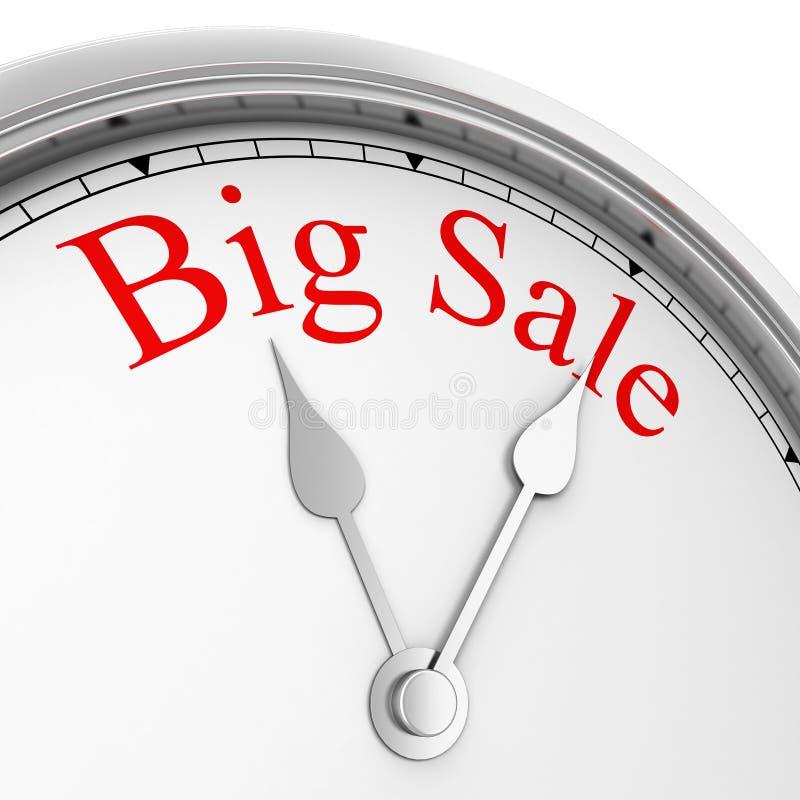 Czas dla dużej sprzedaży ilustracja wektor