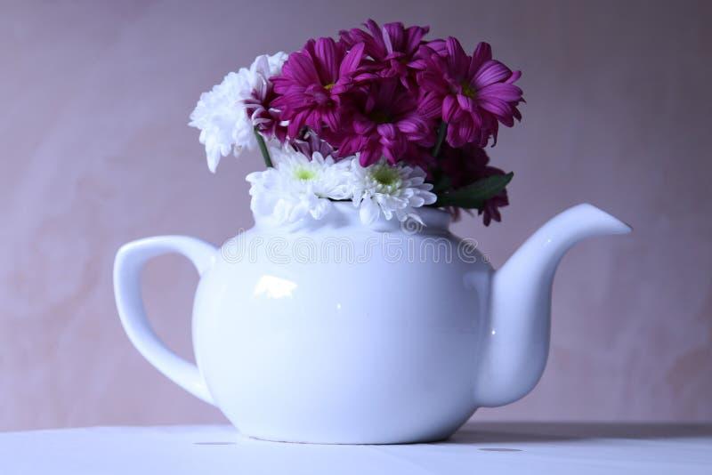 Czas dla Kwiecistej herbaty obraz stock