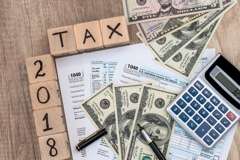 Czas dla podatku płaci, fiskalny pojęcie obraz royalty free