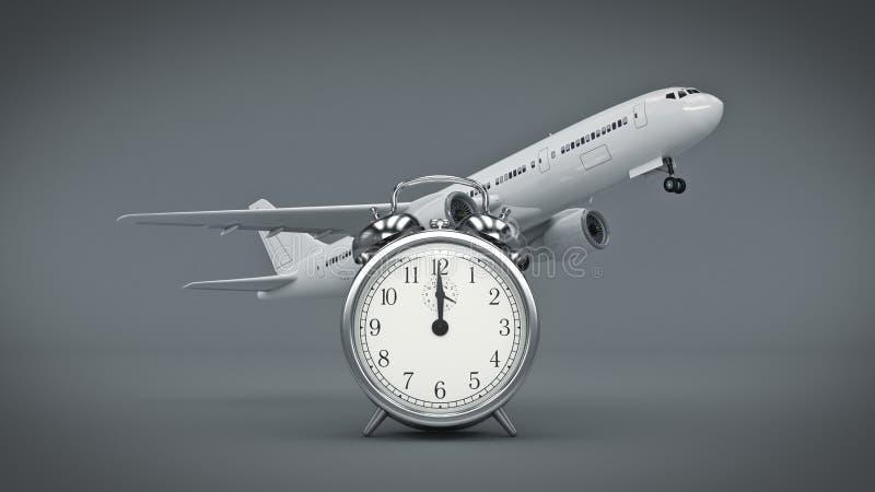 Czas dla podróży, samolotów zegary ilustracji