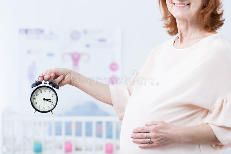 Czas dla porodu obraz stock