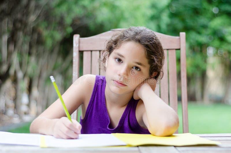 Czas dla pracy domowej zdjęcia stock