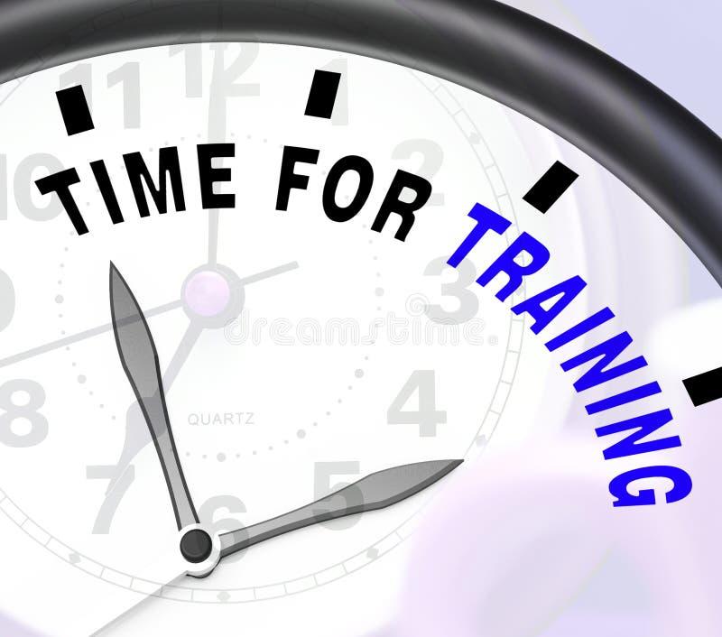 Czas Dla Stażowej wiadomości Pokazuje trenowanie I instruowanie royalty ilustracja