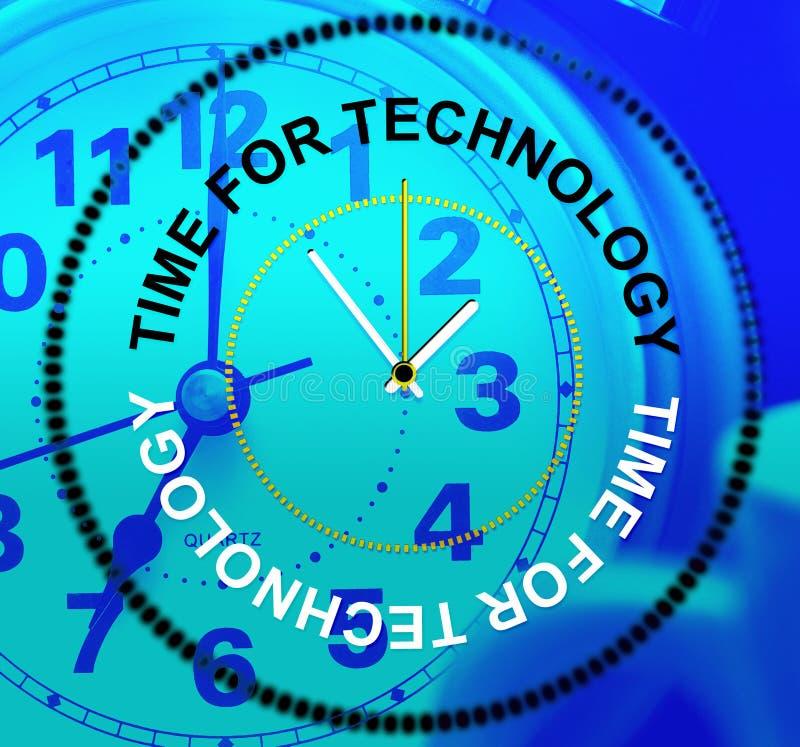 Czas Dla technologii Znaczy Cyfrowych dane I fact ilustracji