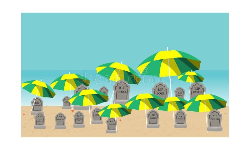 Czas dla wakacje ilustracji