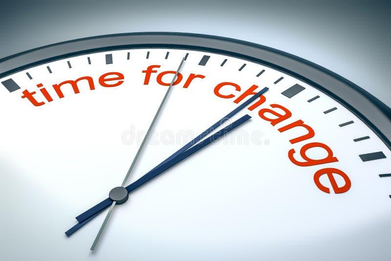 Czas dla zmiany ilustracja wektor