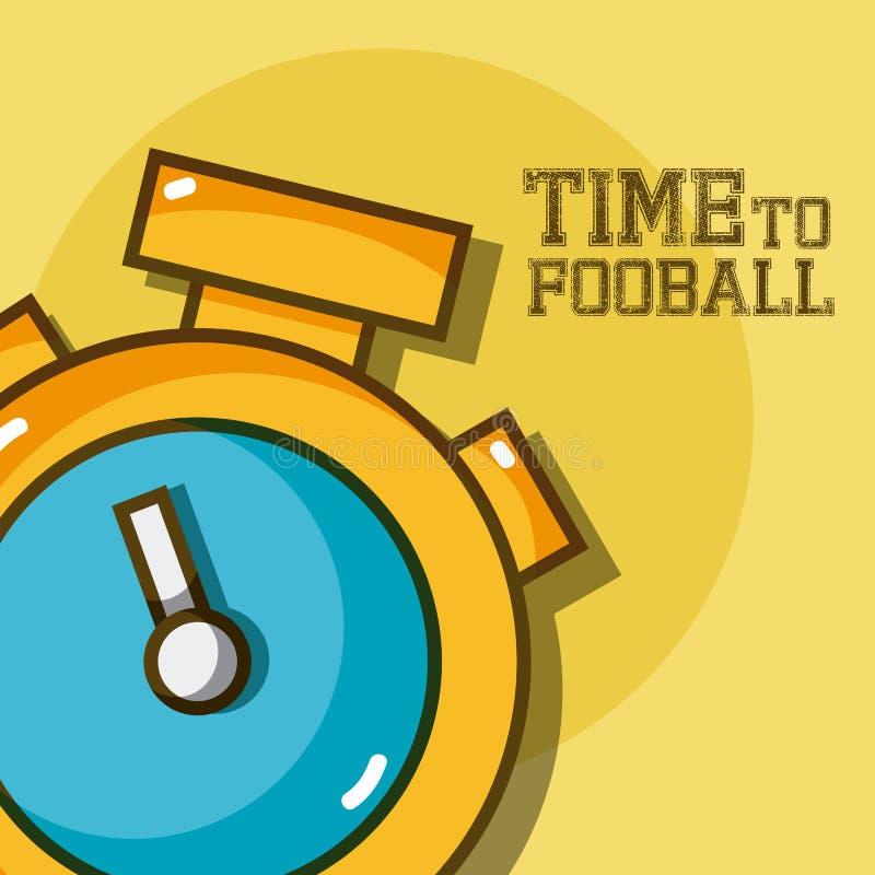 Czas futbol royalty ilustracja
