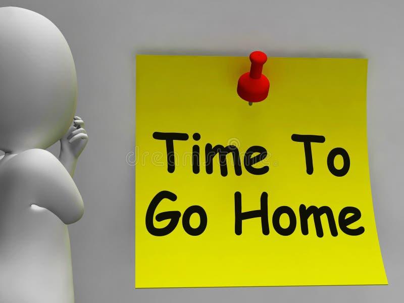 Czas Iść Do domu Znaczy Opuszczać Pije Lub Do widzenia ilustracji