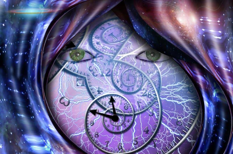 Czas I Przestrze? ilustracja wektor