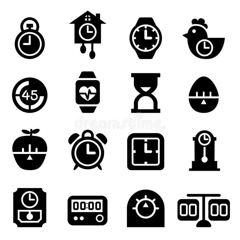 Czas i zegar ikona royalty ilustracja